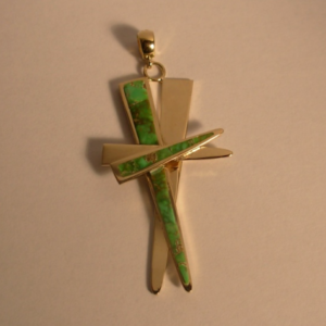 Cross Pendant with Inlay #G0012
