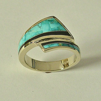 Mens Turquoise Ring #G0061