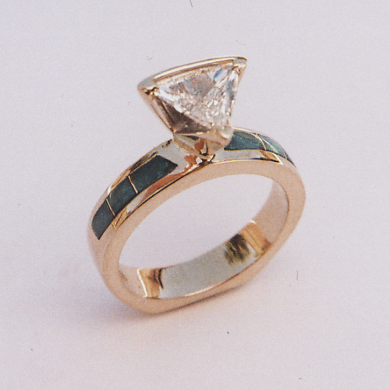 Opal and Diamond Engagement Ring #G0056