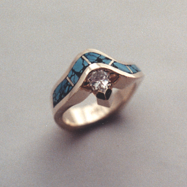 Turquoise engagement ring #G0046