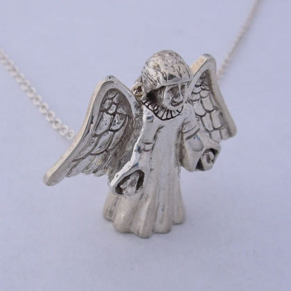 Sterling Silver Angel Pendant #G0074