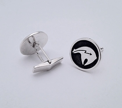 Sterling Silver Cufflinks with a Fetish Bear Design #G0068