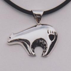 Sterling Silver Fetish Bear Pendant #G0072