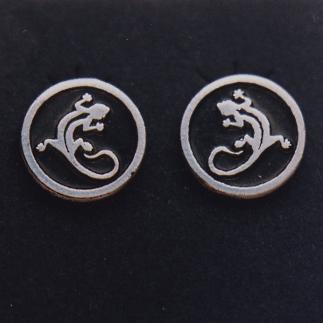Sterling Silver Gecko Earrings #G0075