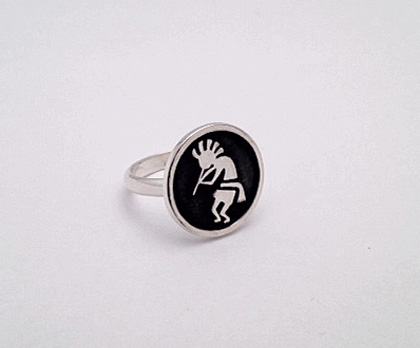 Sterling Silver Kokopelli Ring #G0076