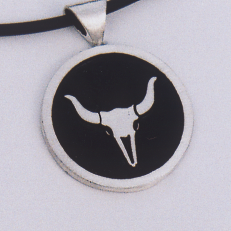 Sterling Silver Steer Skull Pendant #G0071
