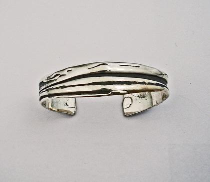 Ladies Sterling Silver cuff Bracelet #G0082