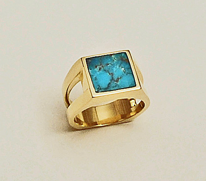 Turquoise Mens Ring #G0096