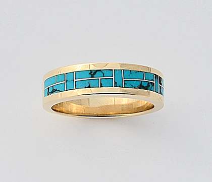 Turquoise Wedding Ring Turquoise Wedding Ring #G0109