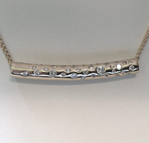14 karat Gold and Diamond pendant slide #G0142