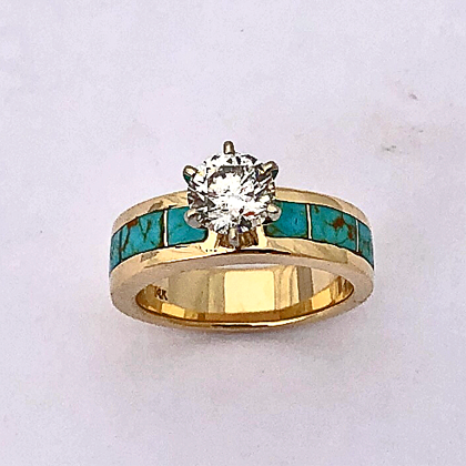 Turquoise Engagement Ring #G0152