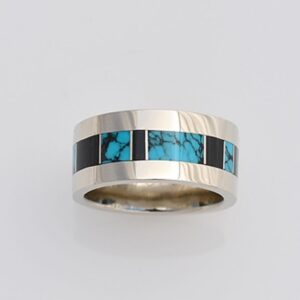 10mm-wide-Gold-Band-with-Turquoise-and-Black-Jade-by-Southwest-Originals-505-363-7150-