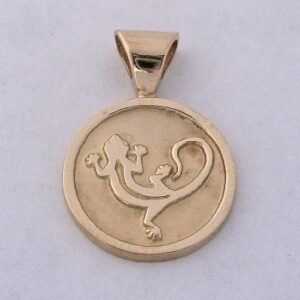 14 Karat Gold Gecko Pendant by Southwest Originals 505-363-7150