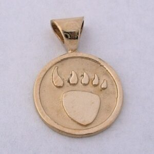 14 karat Gold Bear Paw Pendant b by Southwest Originals 505-363-7150