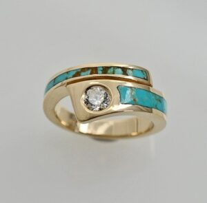 14-karat-Gold-Diamond-and-Turquoise-engagement-ring-by-Southwest-Originals-505-363-7150