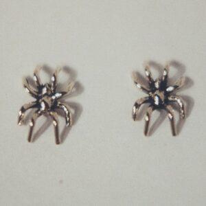 14 karat yellow gold spider earrings by Southwest Originals 505-363-7150