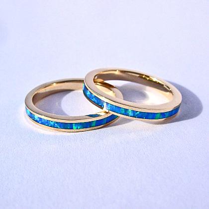 3mm Opal Inlay Bands Southwest Originals 505-363-7150