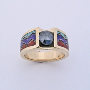 Black Diamond Mountain Ring