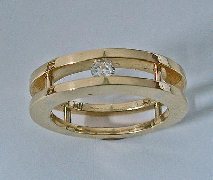 Channel Set Diamond Ring
