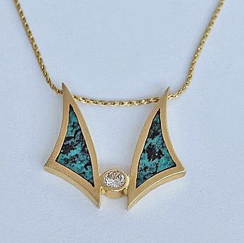 Gold-Diamond-and-Turquoise-Pendant-Slide-SWE0018