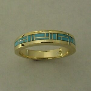 Gold-Turquoise-Wedding-Band-by-Southwest-Originals-505-363-7150