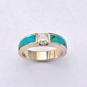 Gold-and-Turquoise-Engagement-Ring-with-Channel-Set-Diamond-by-Southwest-Originals-505-363-7150