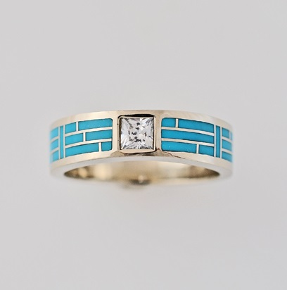 Gold-and-Turquoise-Wedding-Band-by-Southwest-Originals-505-363-7150