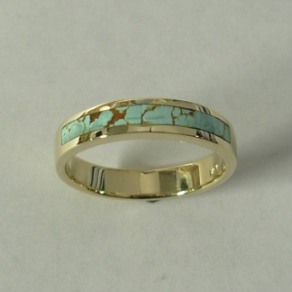 Gold and Turquoise Wedding Band