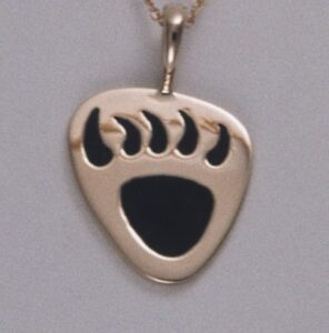 Golden Bear Claw Pendant by Southwest Originals 505-363-7150