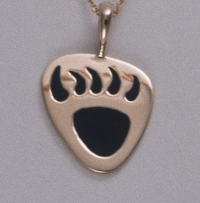 Golden Bear Claw Pendant by Southwest Originals 505-363-7150