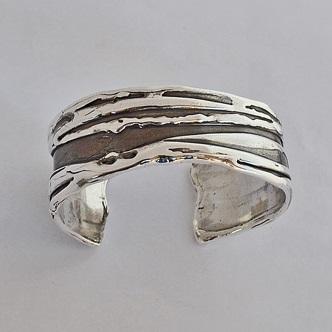 Large Sterling Silver Bracelet by Southwest Originals 505-363-7150