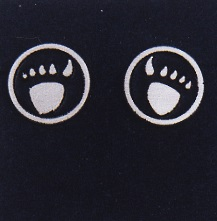 Sterling Silver Bear Paw Earrings by Southwest Originals 505-363-7150