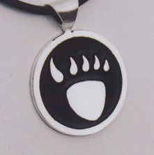 Sterling Silver Bear Paw Pendant by Southwest Originals 505-363-7150