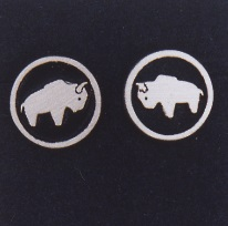 Sterling Silver Buffalo Earrings by Southwest Originals 505-363-7150