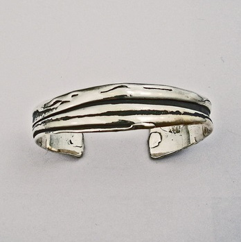 Sterling Silver Freeform Cuff Bracelet 01b by Southwest Originals 505-363-7150