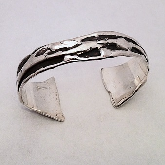 Sterling Silver Freeform Cuff Bracelet by Southwest Originals 505-363-7150