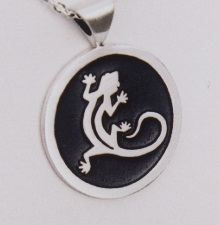 Sterling Silver Gecko Pendant by Southwest Originals 505-363-7150
