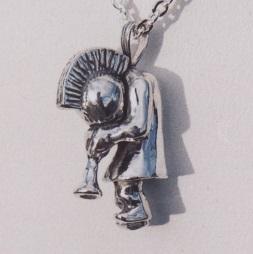 Sterling Silver Kokopelli Pendant by Southwest Originals 505-363-7150