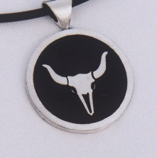Sterling Silver Steer Skull Pendant by Southwest Originals 505-363-7150