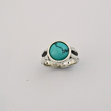 Sterling silver & Turquoise Ring by Southwest Originals 505-363-7150