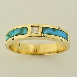 Turquoise Diamond Ring by Southwest Originals 505-363-7150