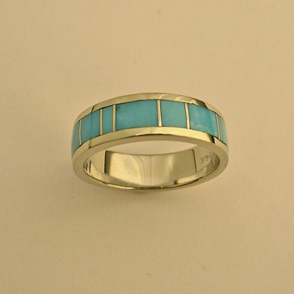 Turquoise wedding band