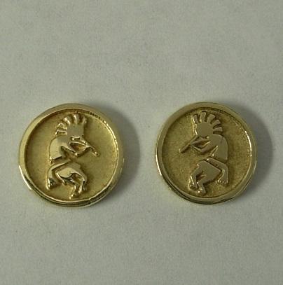 Yellow-Gold-Kokopelli-Earrings-by-Southwest-Originals-505-363-7150