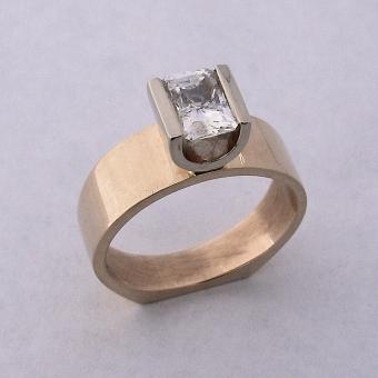 Yellow & White Gold Engagement Ring