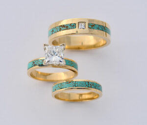 18-Karat-Gold-Turquoise-and-Diamond-Wedding-Set-300x254