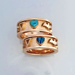 14 karat Rose Gold Wedding Set #G0162