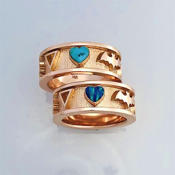 14 karat Rose Gold Wedding Set #G0162