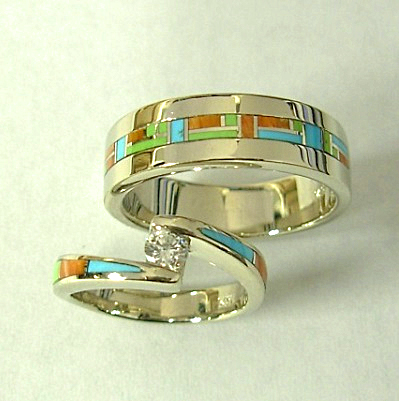 White-gold-Diamond-wedding-set-with-inlay