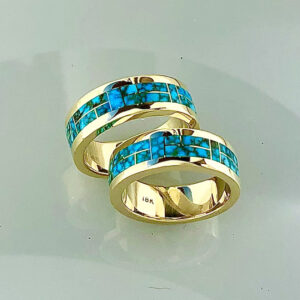 Turquoise Wedding Bands #G0166